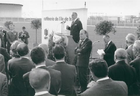 Georges Pompidou à Grandpuits